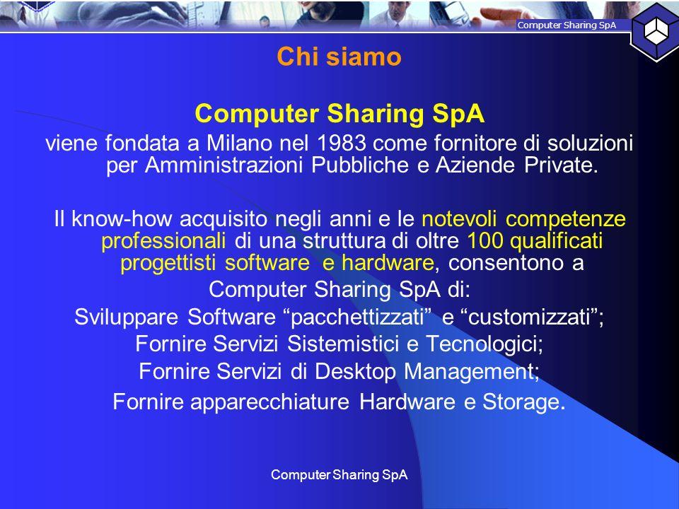 Chi siamo Computer Sharing SpA