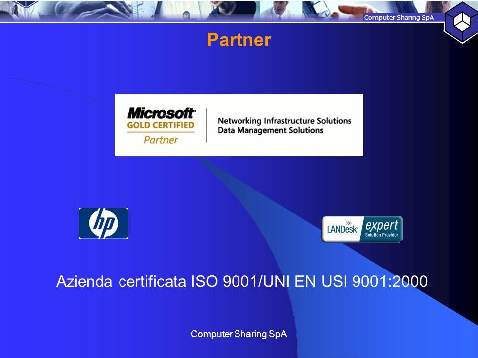 Azienda certificata ISO 9001/UNI EN USI 9001:2000