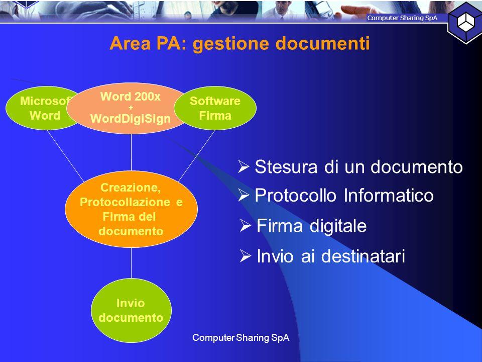 Area PA: gestione documenti
