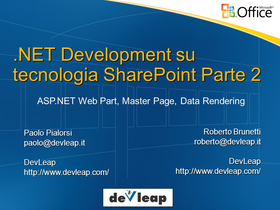 .NET Development su tecnologia SharePoint Parte 2