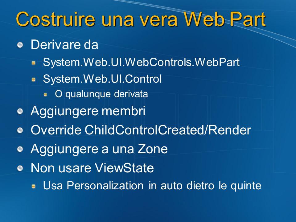 Costruire una vera Web Part