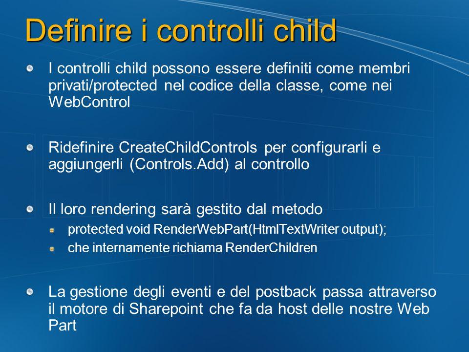 Definire i controlli child