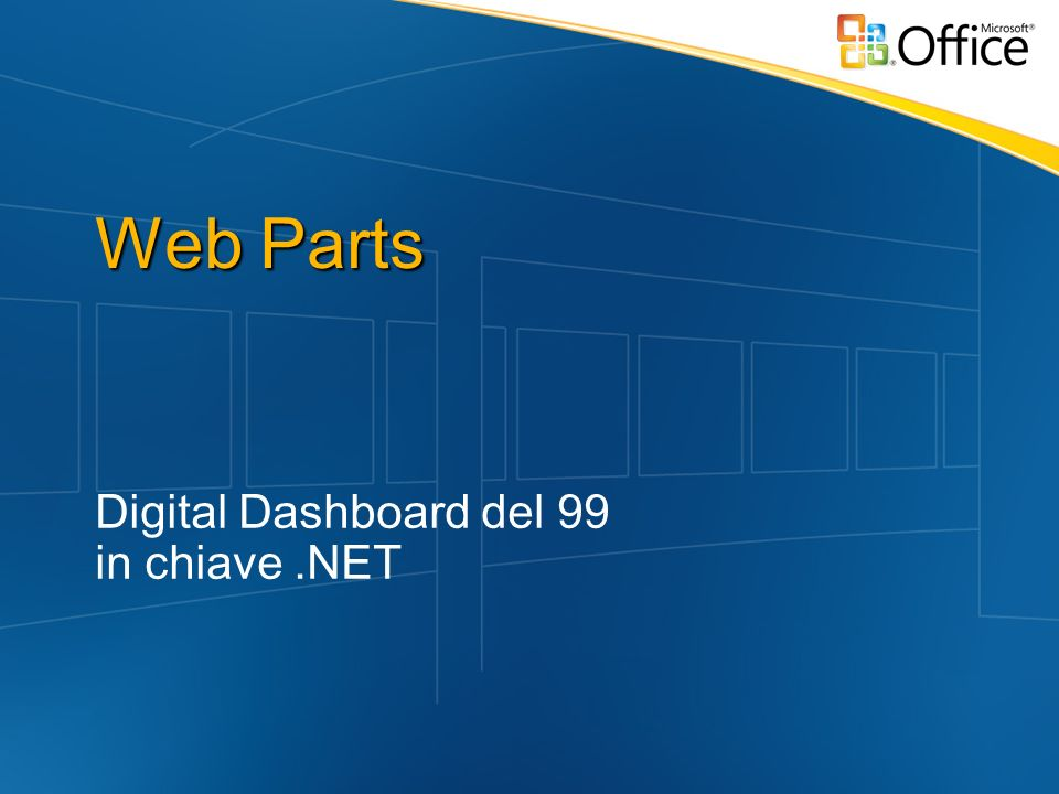 Digital Dashboard del 99 in chiave .NET