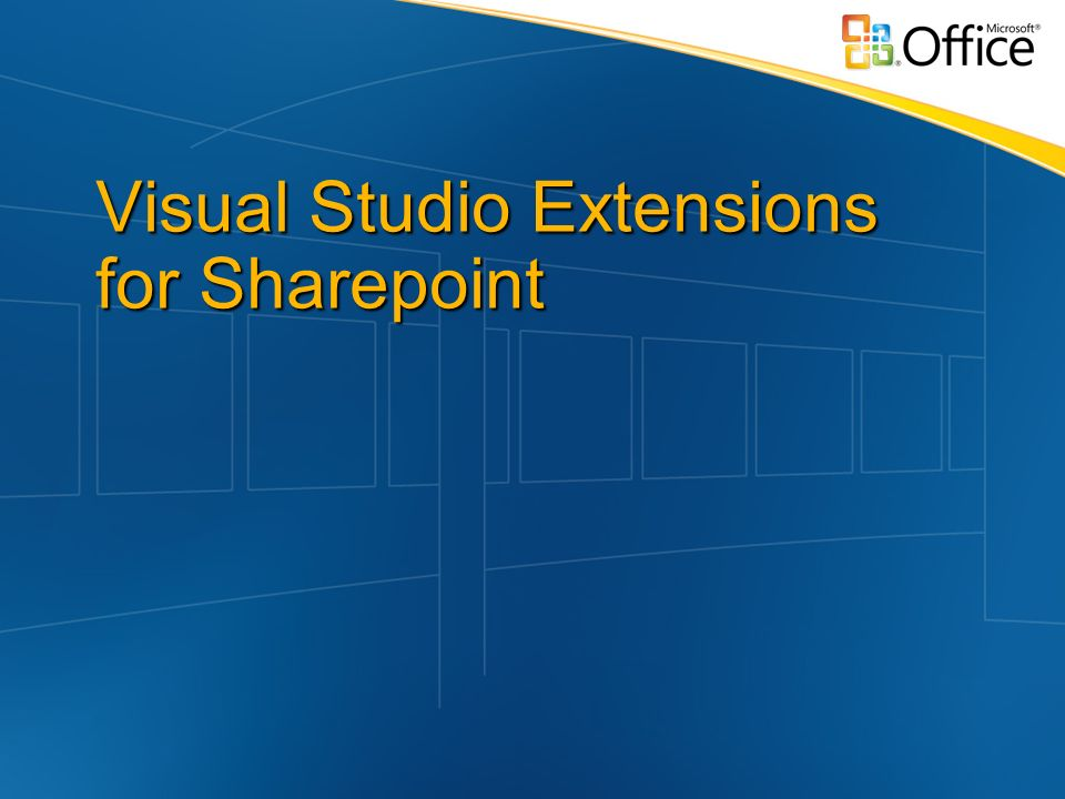 Visual Studio Extensions for Sharepoint