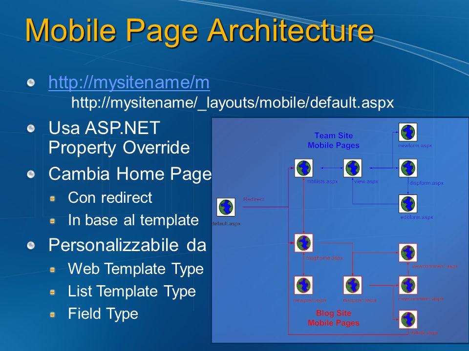 Mobile Page Architecture