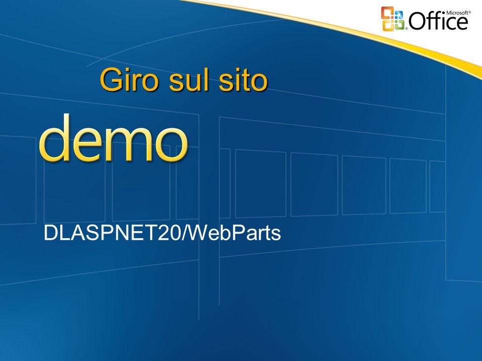 Giro sul sito DLASPNET20/WebParts
