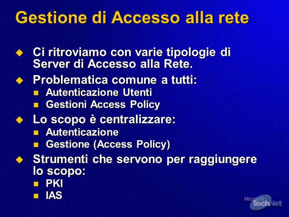 Gestione di Accesso alla rete