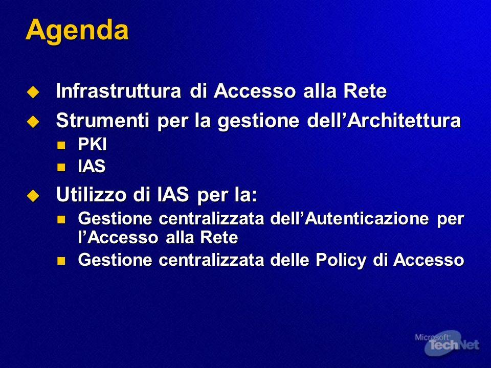 Agenda Infrastruttura di Accesso alla Rete
