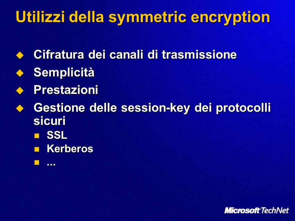 Utilizzi della symmetric encryption