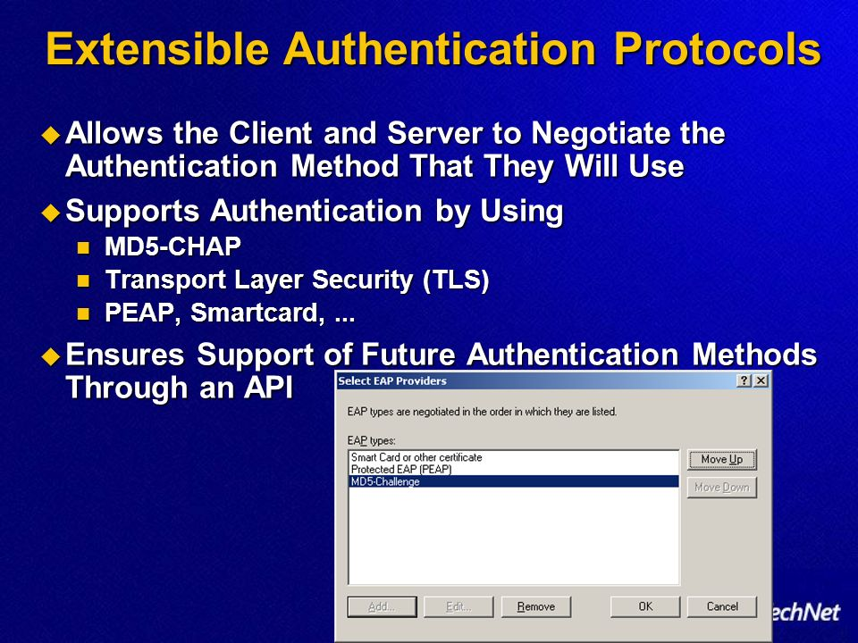 Extensible Authentication Protocols