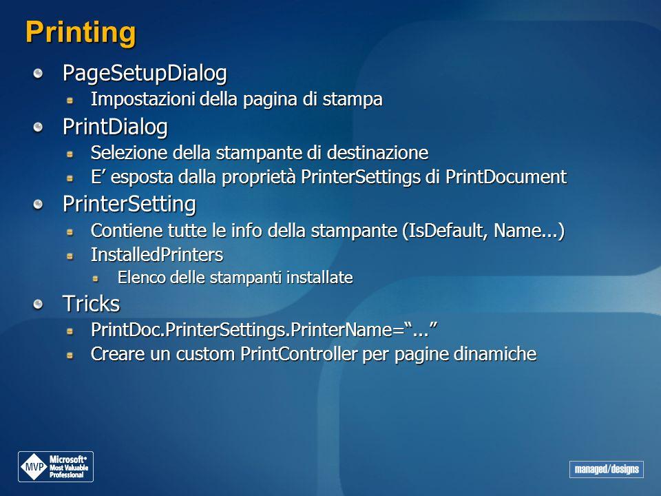Printing PageSetupDialog PrintDialog PrinterSetting Tricks