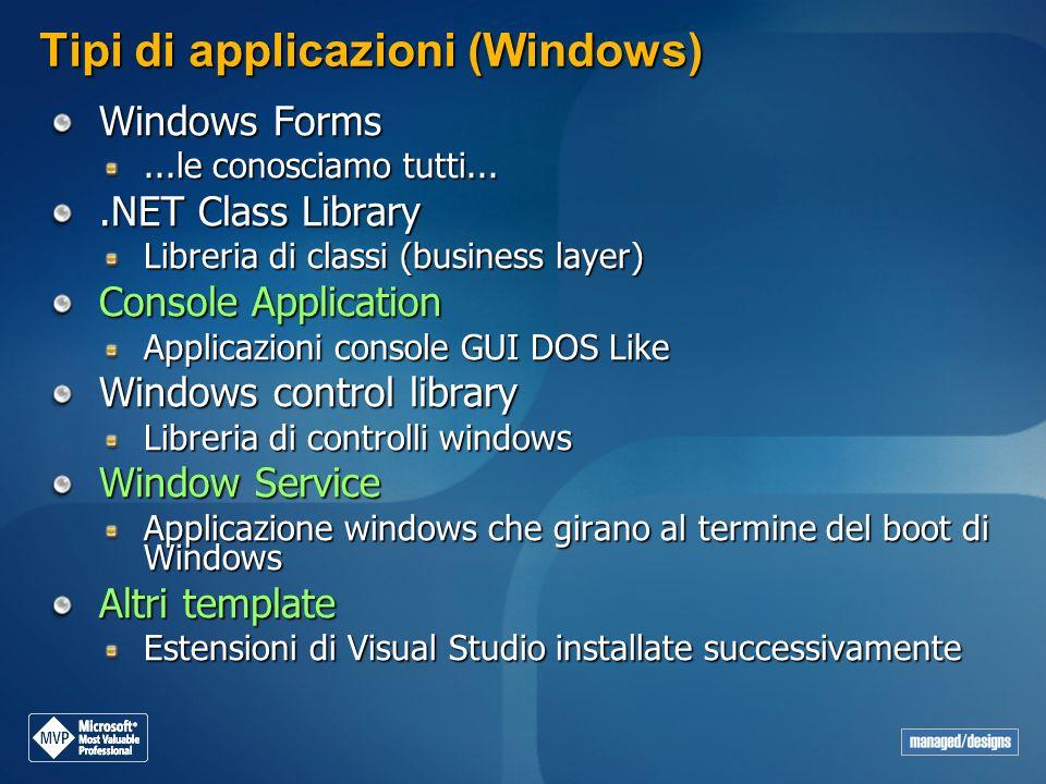Tipi di applicazioni (Windows)