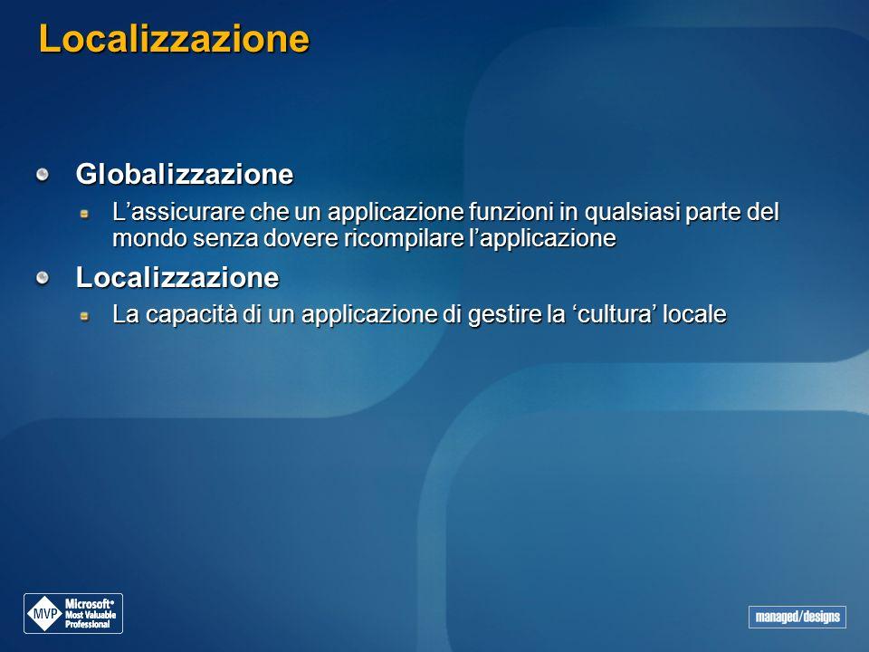 Localizzazione Globalizzazione Localizzazione