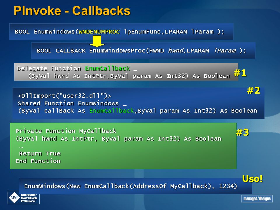 PInvoke - Callbacks #1 #2 #3 Uso!