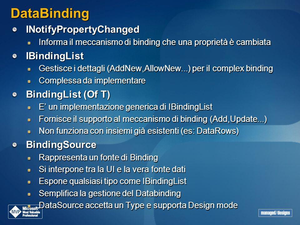 DataBinding INotifyPropertyChanged IBindingList BindingList (Of T)
