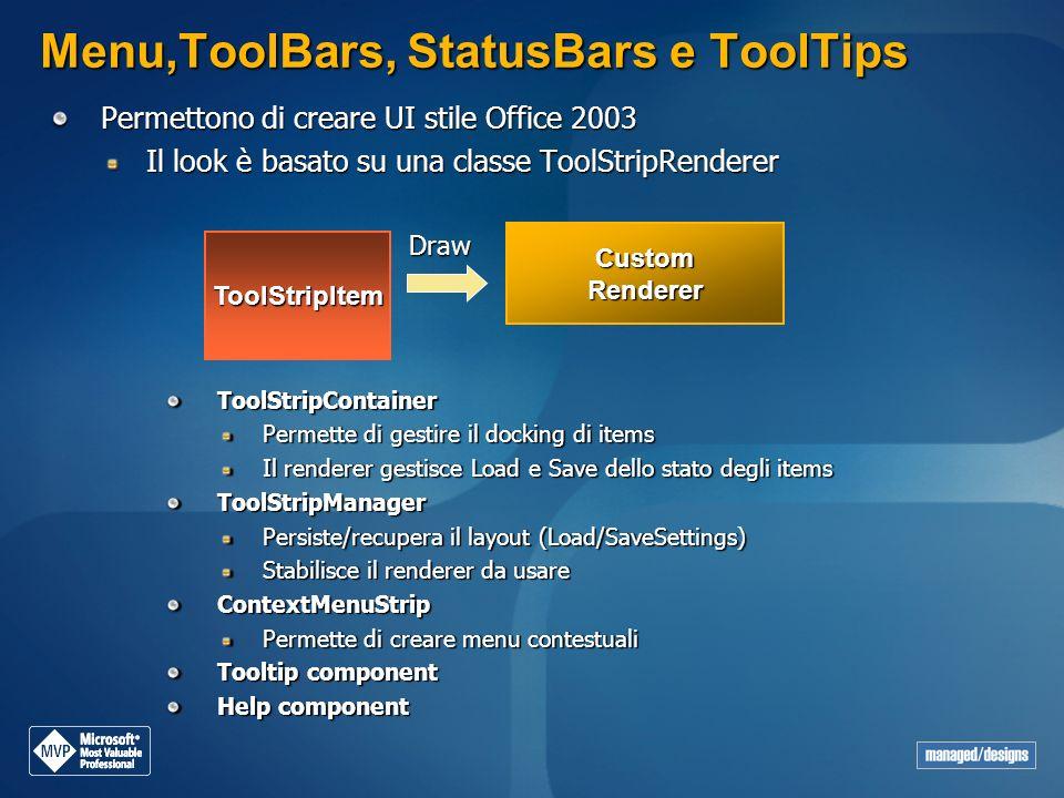 Menu,ToolBars, StatusBars e ToolTips