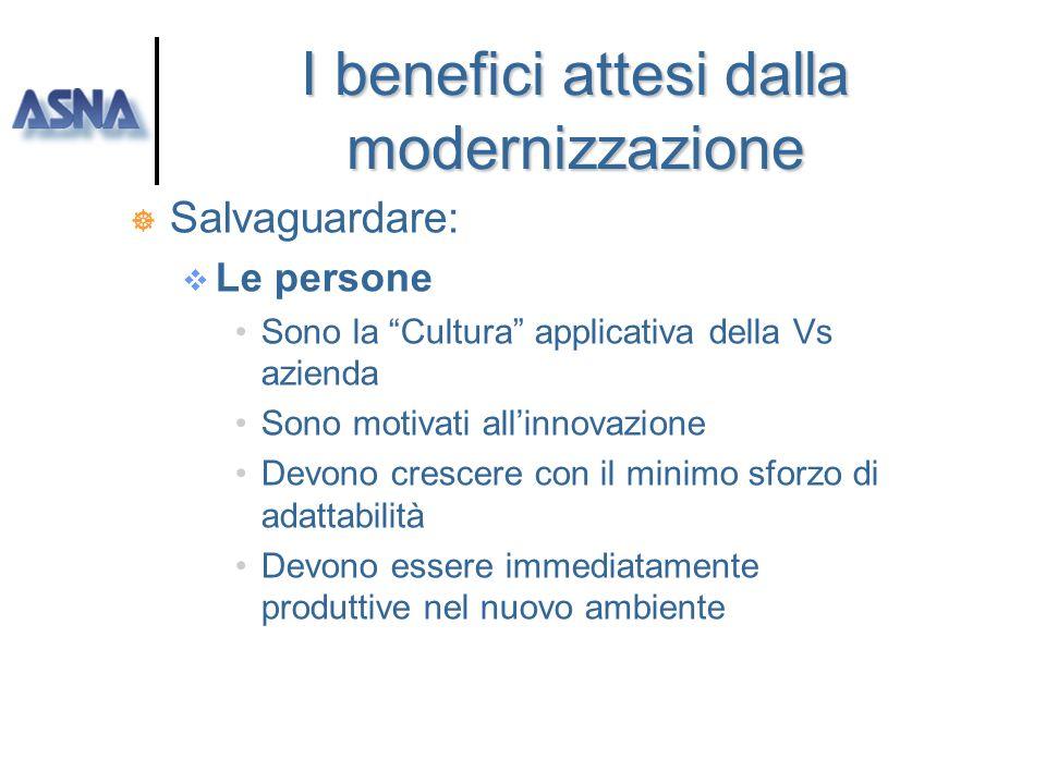 I benefici attesi dalla modernizzazione
