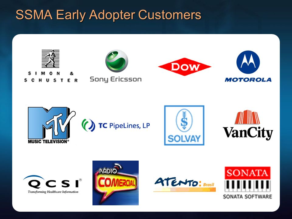 SSMA Early Adopter Customers