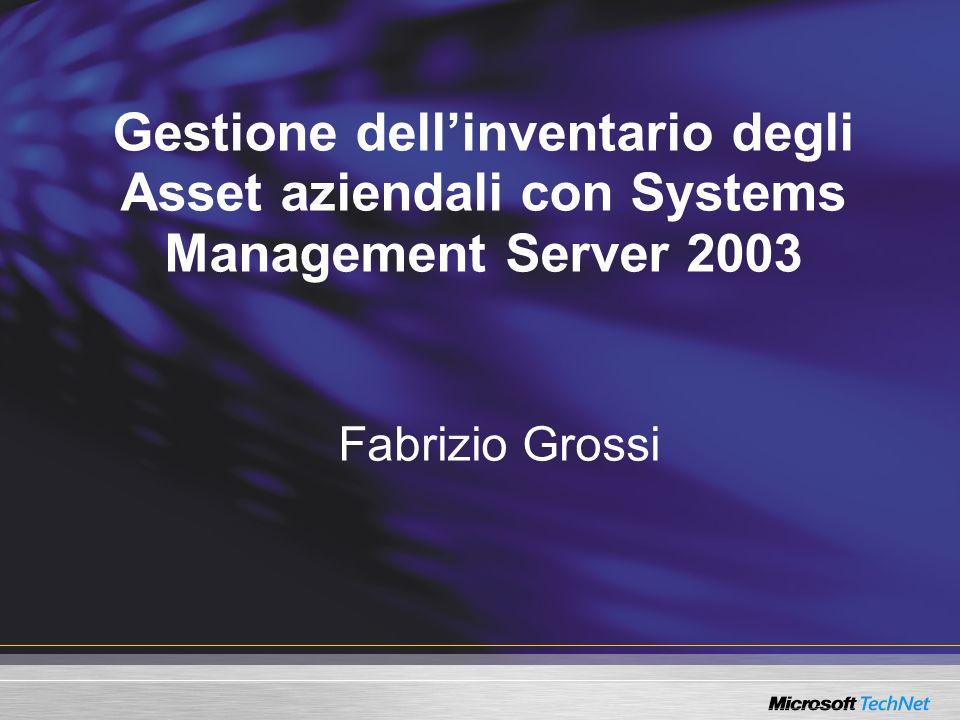 Gestione dell'inventario degli Asset aziendali con Systems Management Server 2003
