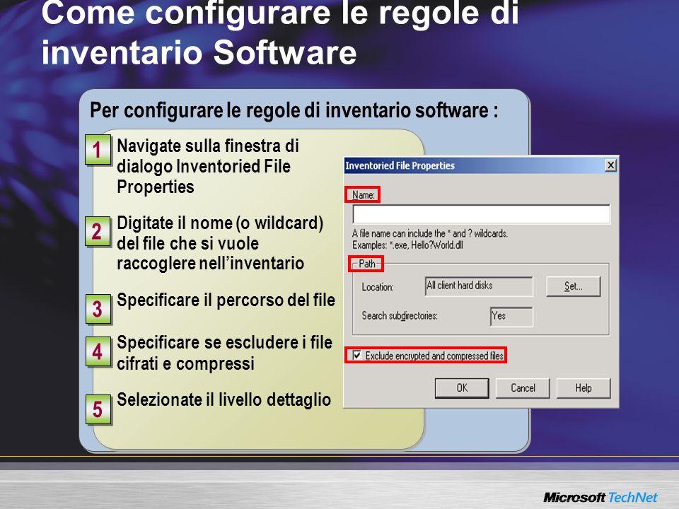 Come configurare le regole di inventario Software