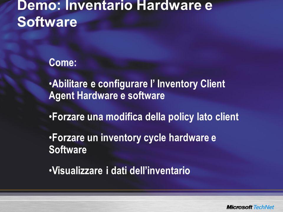 Demo: Inventario Hardware e Software