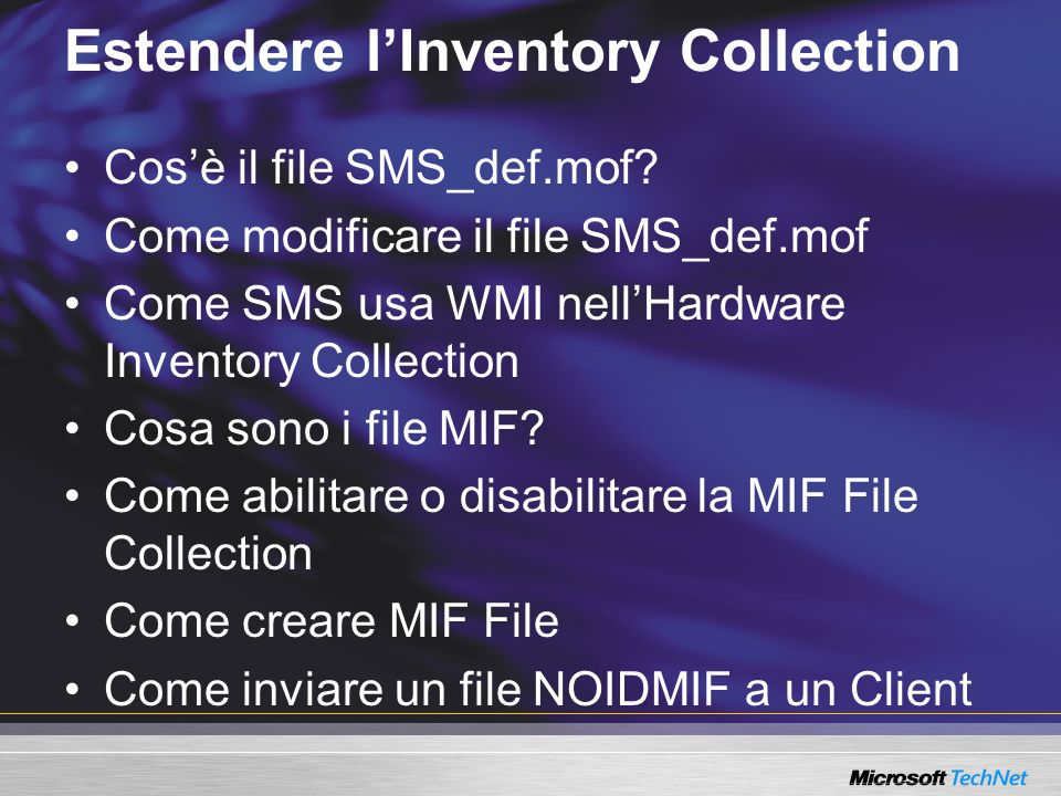 Estendere l'Inventory Collection