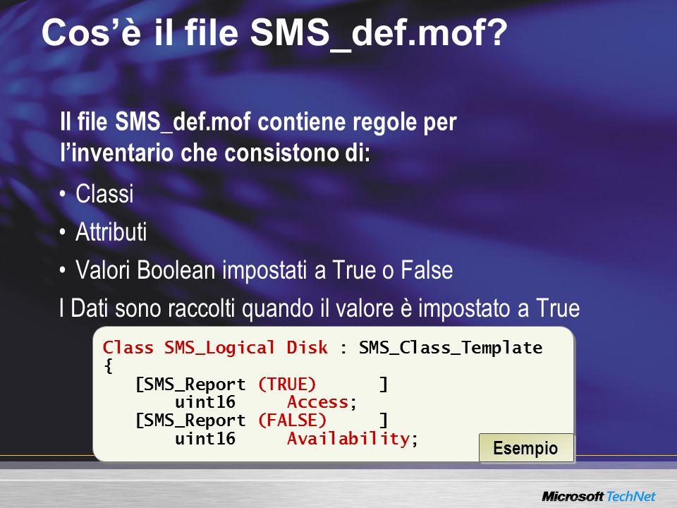 Cos'è il file SMS_def.mof