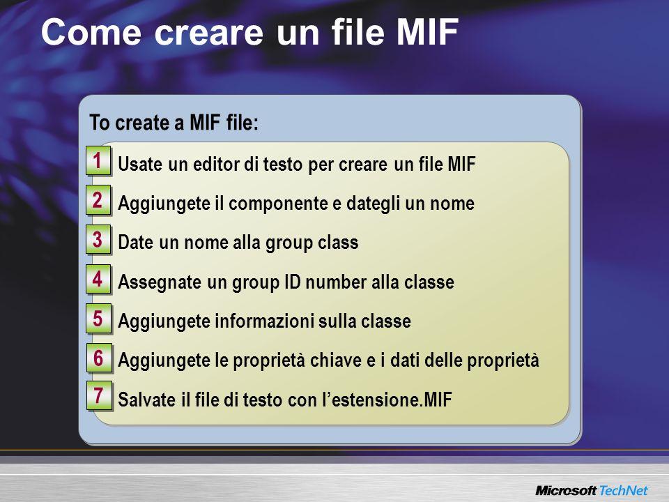 Come creare un file MIF To create a MIF file: 1 2 3 4 5 6 7