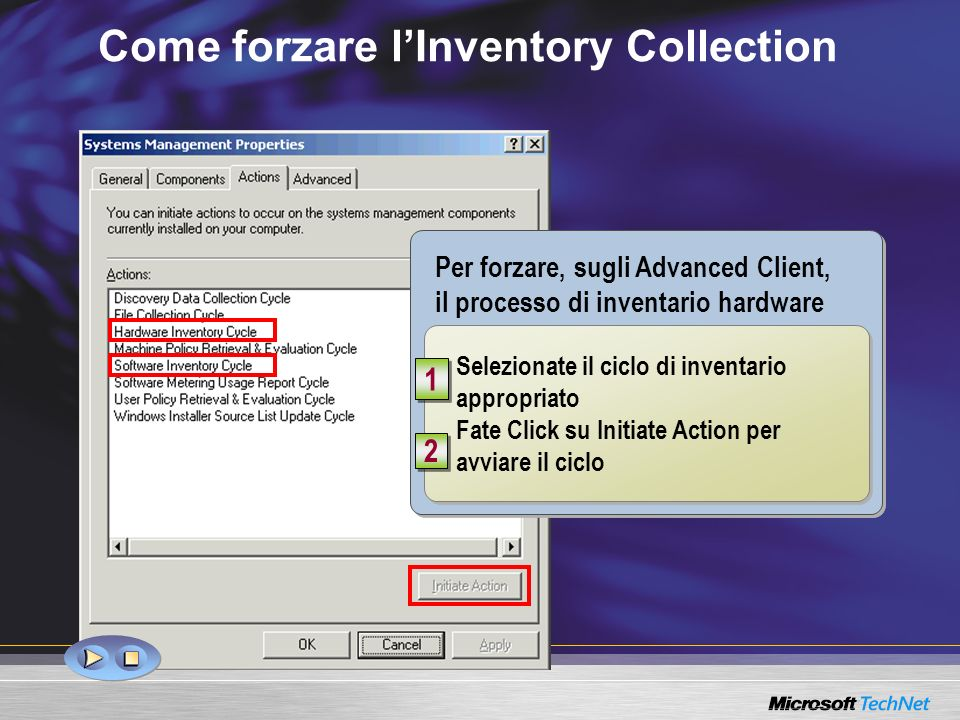 Come forzare l'Inventory Collection