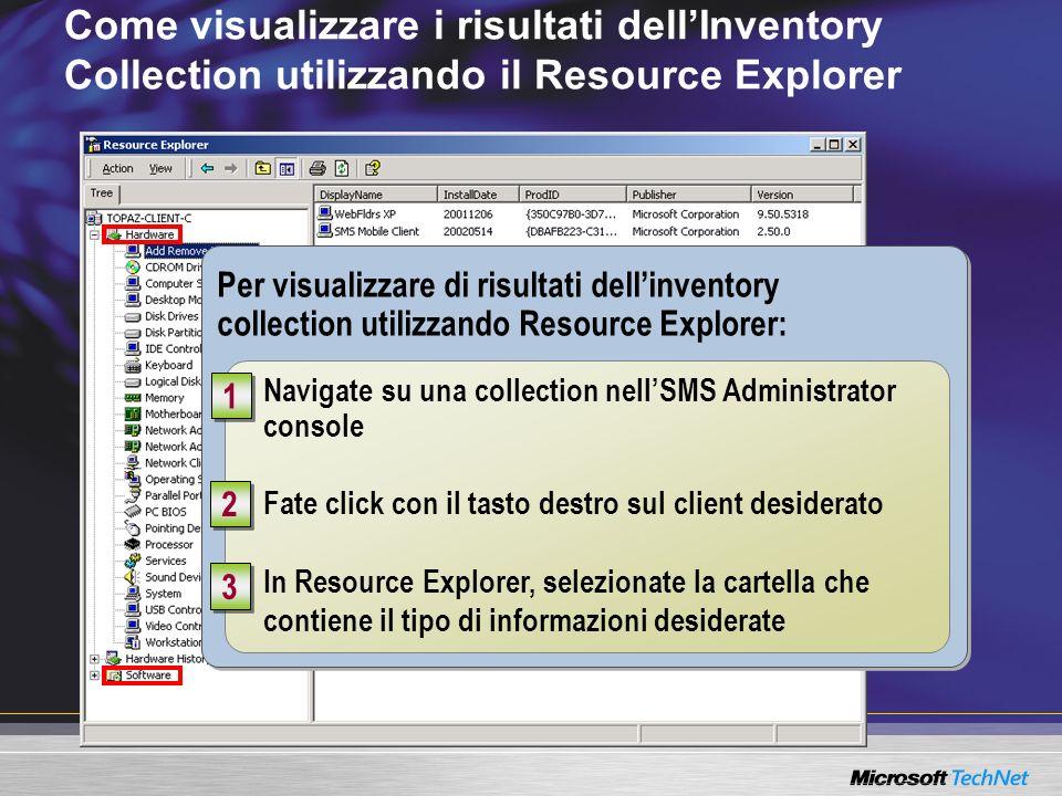 Come visualizzare i risultati dell'Inventory Collection utilizzando il Resource Explorer
