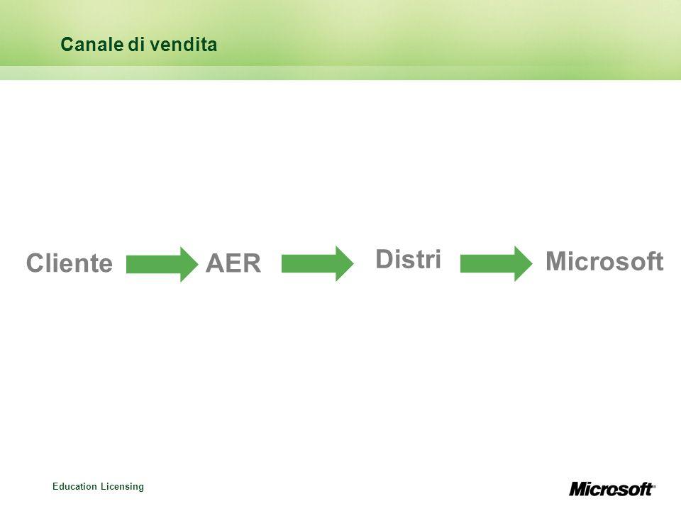 Canale di vendita Cliente AER Distri Microsoft