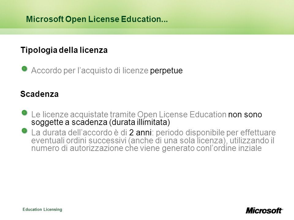Microsoft Open License Education...