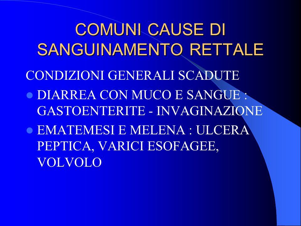 COMUNI CAUSE DI SANGUINAMENTO RETTALE
