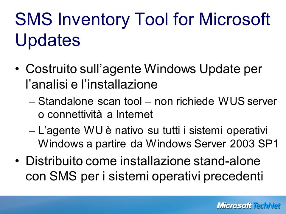 SMS Inventory Tool for Microsoft Updates