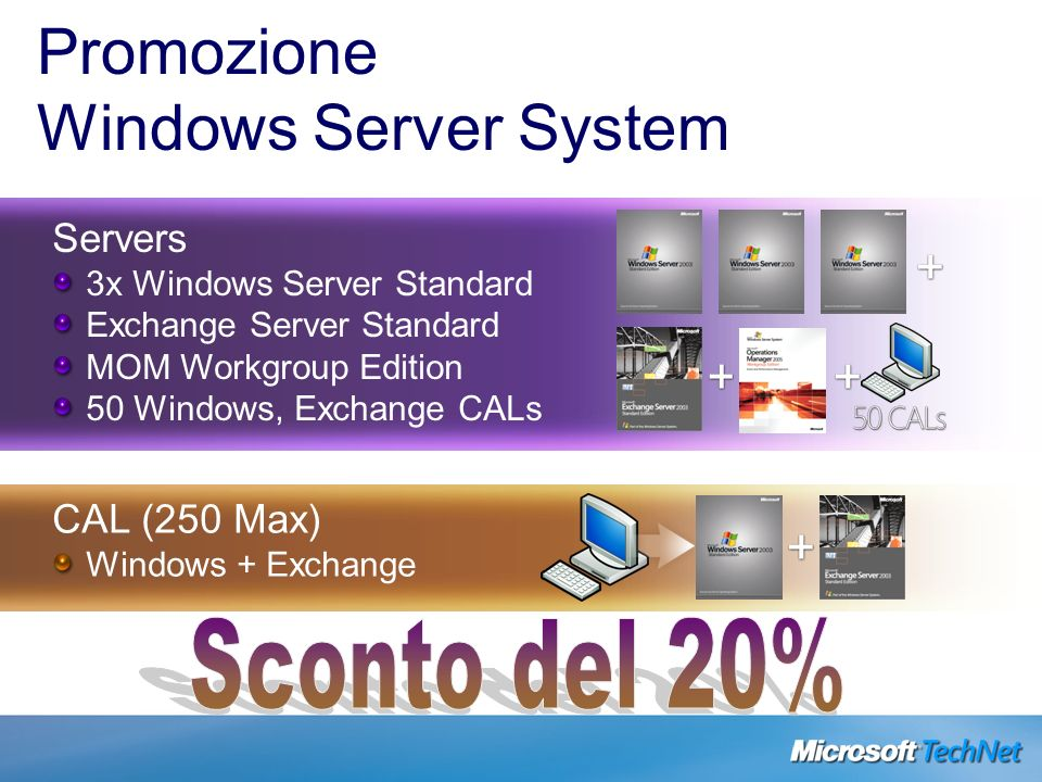 Promozione Windows Server System