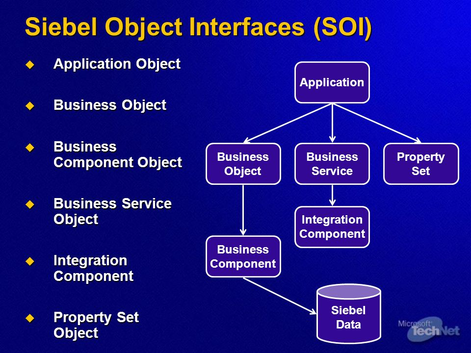 Siebel Object Interfaces (SOI)