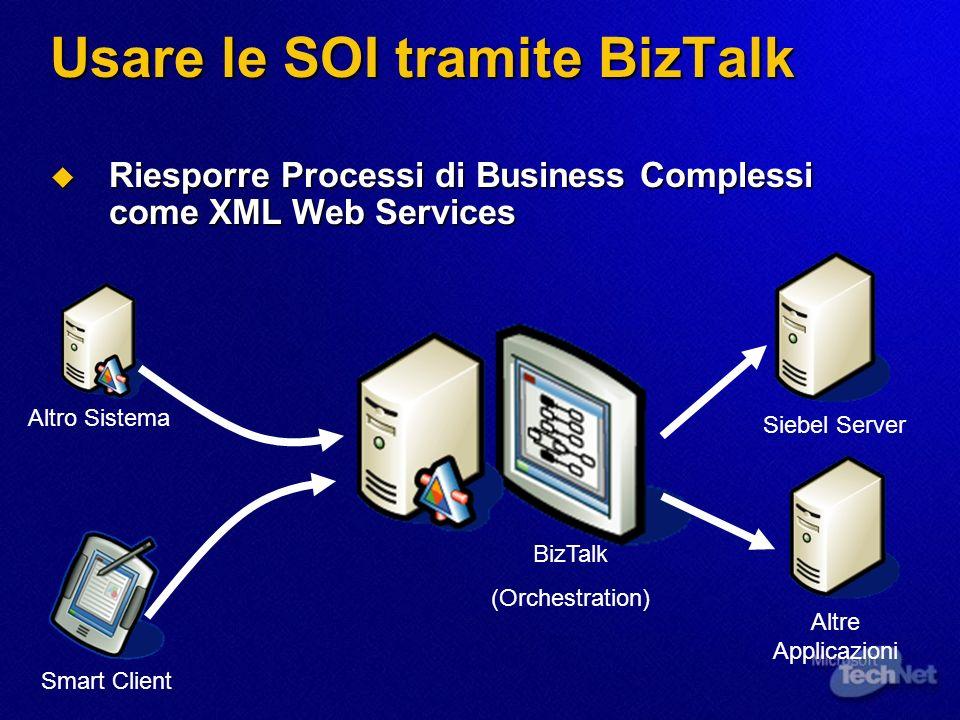 Usare le SOI tramite BizTalk