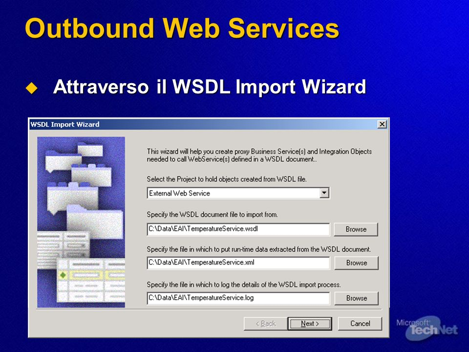 Outbound Web Services Attraverso il WSDL Import Wizard