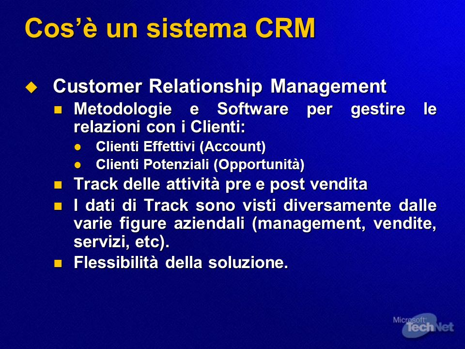 Cos'è un sistema CRM Customer Relationship Management
