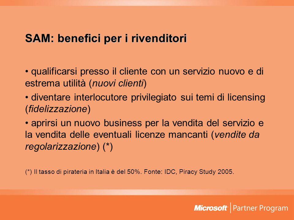 SAM: benefici per i rivenditori