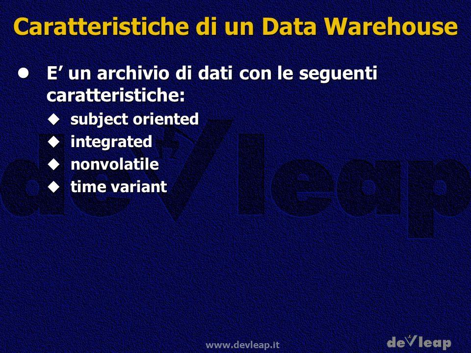 Caratteristiche di un Data Warehouse