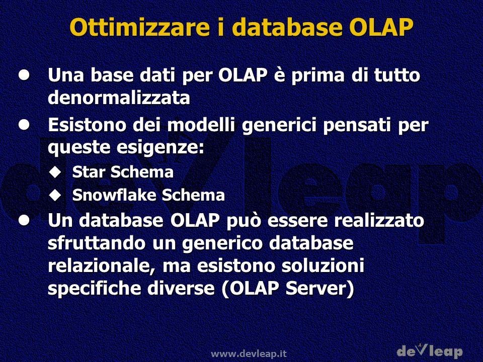 Ottimizzare i database OLAP