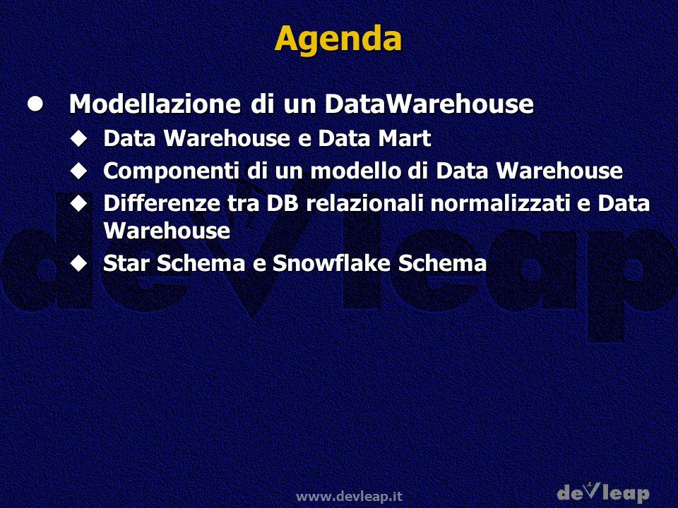 Agenda Modellazione di un DataWarehouse Data Warehouse e Data Mart