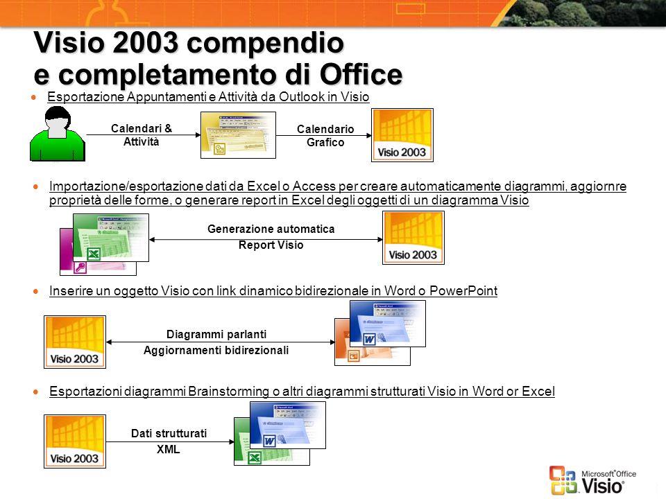 Visio 2003 compendio e completamento di Office