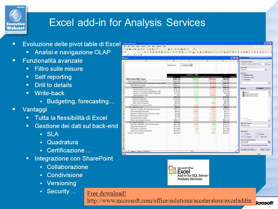 Excel add-in for Analysis Services