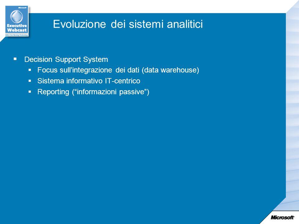 Evoluzione dei sistemi analitici