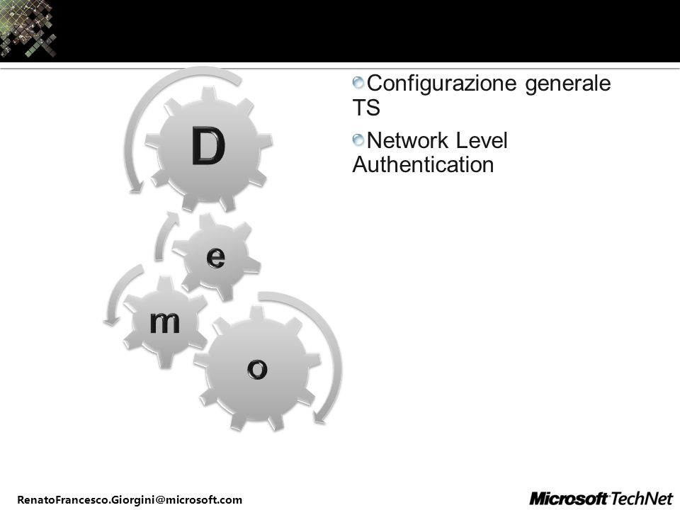 Configurazione generale TS Network Level Authentication