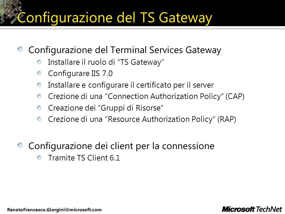 Configurazione del TS Gateway
