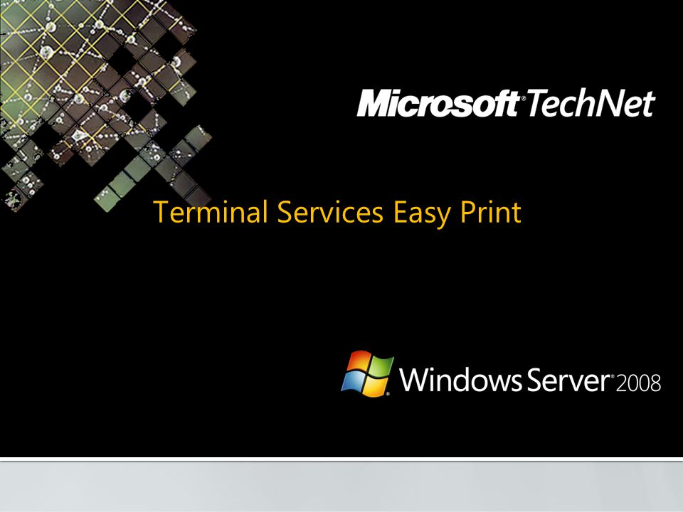 Terminal Services Easy Print
