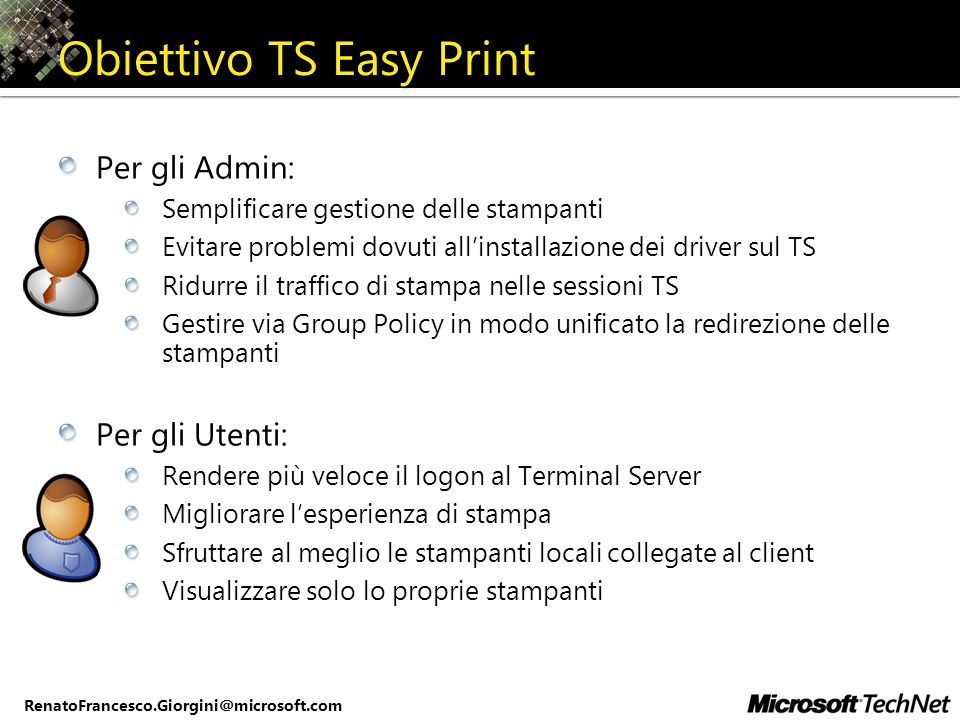 Obiettivo TS Easy Print